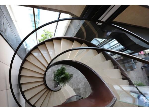 旋转玻璃楼梯扶手  DJ-8008