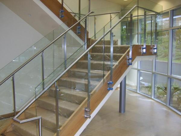 室内玻璃楼梯扶手  DJ-8009