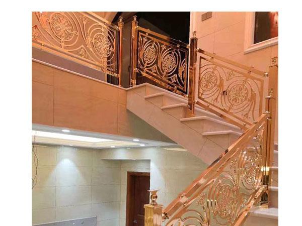 铝艺高端楼梯扶手