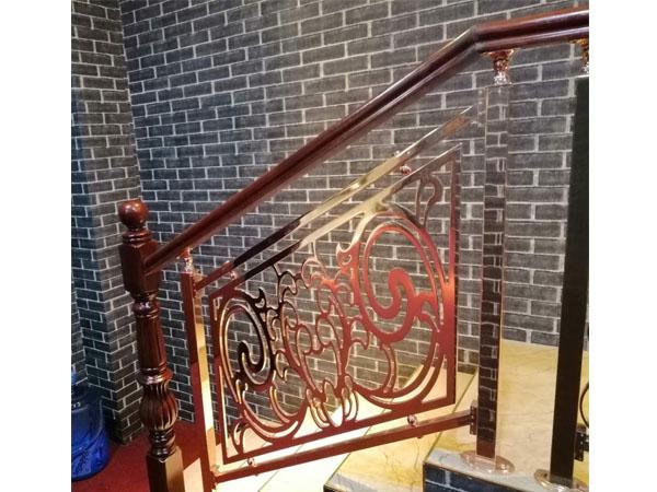 现代铜楼梯扶手