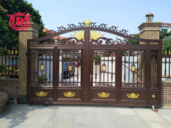 泊洲边 钟总 自建房 别墅铝艺大门、围栏、护栏、定制成功案例
