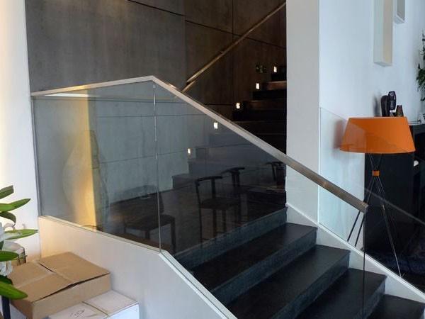室内玻璃楼梯扶手  DJ-8007